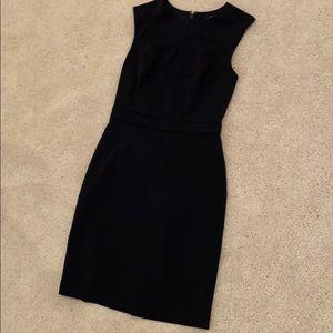 Navy sheath dress, the Limited